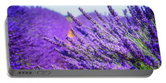 Lavender Field Portable Battery Charger by Anastasy Yarmolovich