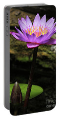 Lavender Water Lily #4 Portable Battery Charger