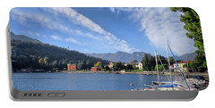 Lenno.lake Como Portable Battery Charger by Jennie Breeze