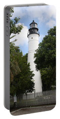 Portable Battery Charger featuring the photograph Lighthouse - Key West by Christiane Schulze Art And Photography