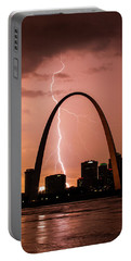Lightning Storm Over St Louis Portable Battery Charger