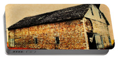 Lime Stone Barn Portable Battery Charger by Julie Hamilton
