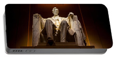 Lincoln Memorial At Night - Washington D.c. Portable Battery Charger