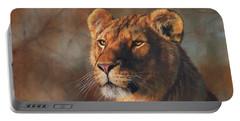 Lioness Portrait Portable Battery Charger