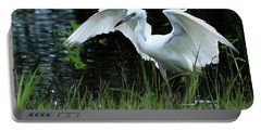 Little Blue Heron Hunting - Digitalart Portable Battery Charger