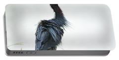 Little Blue Heron Portrait Portable Battery Charger