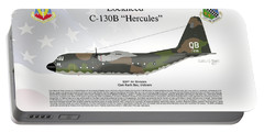 Lockheed C-130b Hercules Portable Battery Charger by Arthur Eggers