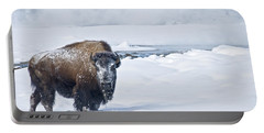 Lone Bison Portable Battery Charger by Gary Lengyel