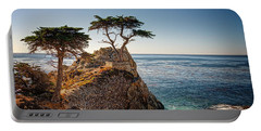 Lone Cypress Tree Portable Battery Charger by James Hammond