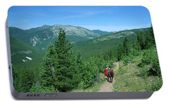 Lone Llama Packer In Gorgeous Mountain Wilderness Portable Battery Charger by Jerry Voss