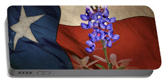 Lone Star Bluebonnet Portable Battery Charger