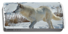 Lone White Wolf Portable Battery Charger
