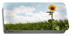 Lonely Flower Portable Battery Charger by Ricky Dean