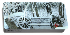 Lonely In Winter Portable Battery Charger by Barbara S Nickerson
