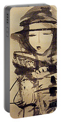Lost In Thought Portable Battery Charger by Nancy Kane Chapman