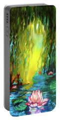 Lotus And Lily Pads Portable Battery Charger