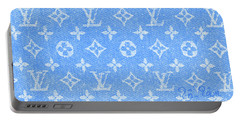 Louis Vuitton In Teal Monogram Portable Battery Charger