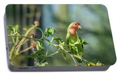 Lovely Little Lovebird  Portable Battery Charger by Saija Lehtonen
