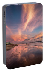 Portable Battery Charger featuring the photograph Low Tide Mirror by Debra and Dave Vanderlaan