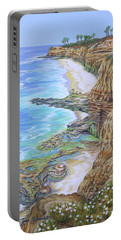 Low Tide Sunset Cliffs Portable Battery Charger by Jane Girardot