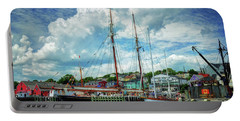 Portable Battery Charger featuring the photograph Lunenburg Harbor by Rodney Campbell