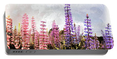 Lupins Portable Battery Charger by Elaine Manley