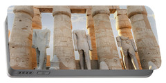 Portable Battery Charger featuring the photograph Luxor by Silvia Bruno