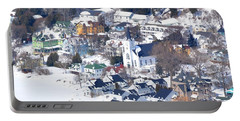Mackinac Island Winter Portable Battery Charger