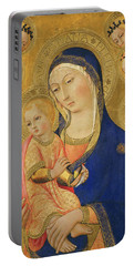 Madonna And Child With Saint Jerome, Saint Bernardino, And Angels Portable Battery Charger