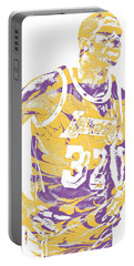 Magic Johnson Los Angeles Lakers Pixel Art 6 Portable Battery Charger