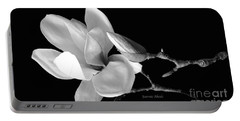 Magnolia In Monochrome Portable Battery Charger
