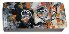Portable Battery Charger featuring the painting Mahatma Gandhi by Richard Day