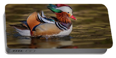 Portable Battery Charger featuring the photograph Mandarin Duck  by Susan Candelario