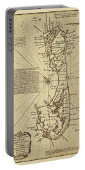 Map Of Bermuda 1750 Portable Battery Charger by Andrew Fare