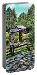Portable Battery Charger featuring the photograph Marby Mill Pathway by Paul Ward