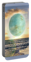 March Birthstone Aquamarine Portable Battery Charger