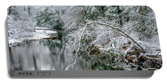 Portable Battery Charger featuring the photograph March Snow Cranberry River by Thomas R Fletcher