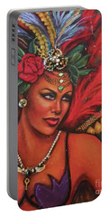 Portable Battery Charger featuring the painting Mardi Gras by Alga Washington