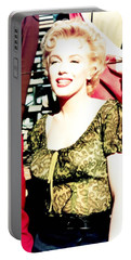 Portable Battery Charger featuring the photograph Marilyn Monroe by R Muirhead Art