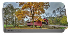 Maryland Covered Bridge In Autumn Portable Battery Charger