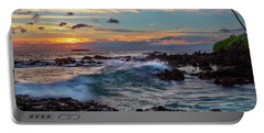Maui Sunset At Secret Beach Portable Battery Charger