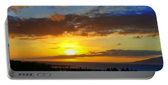 Maui Sunset At The Plantation House Portable Battery Charger