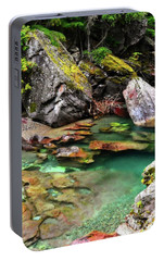 Portable Battery Charger featuring the photograph Mcdonald Creek 11 by Marty Koch