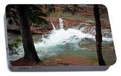 Portable Battery Charger featuring the photograph Mcdonald Creek  by Marty Koch