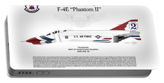 Mcdonnell Douglas F-4e Phantom II Thunderbird Portable Battery Charger by Arthur Eggers