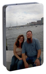 Portable Battery Charger featuring the photograph me by Richie Montgomery