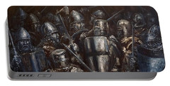 Medieval Battle Portable Battery Charger by Arturas Slapsys