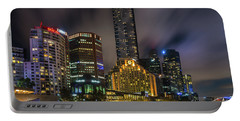 Melbourne City Skyline Over Yarra River  Portable Battery Charger