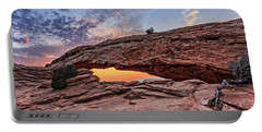Mesa Arch At Sunrise Portable Battery Charger