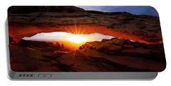 Portable Battery Charger featuring the photograph Mesa Arch Sunrise by Norman Hall